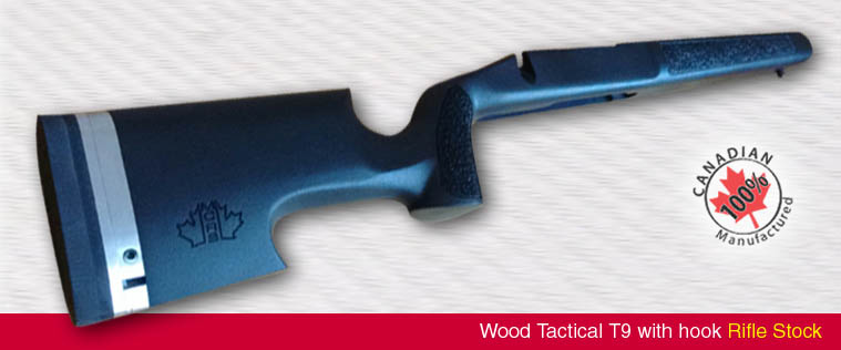 Wood Tactical T9 With Hook Rifle Stock Mcrs Tactical
